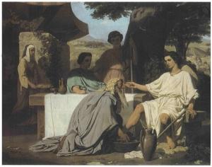 Abraham lavant les pieds aux anges 1854 Felix Henri Giacomotti