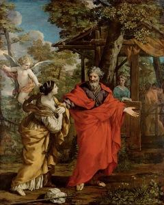 Heimkehr der Hagar - Pietro da Cortona 1637