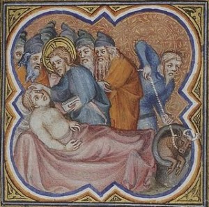 Jesus heals The  Man with Dropsy